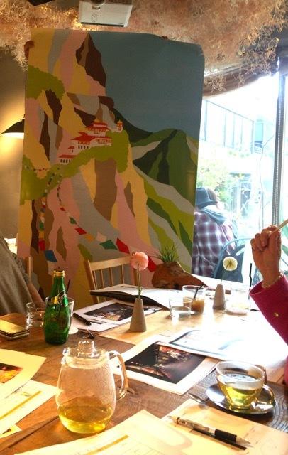会場を彩るのはブータンの手すき紙:5/21〜「ブータンしあわせに生きるためのヒント」@上野の森美術館_d0339885_10392837.jpg