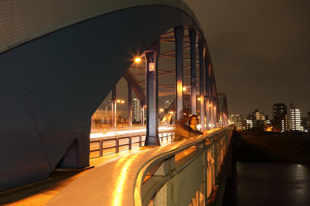多摩川  夜の丸小橋_b0061717_15382934.jpg