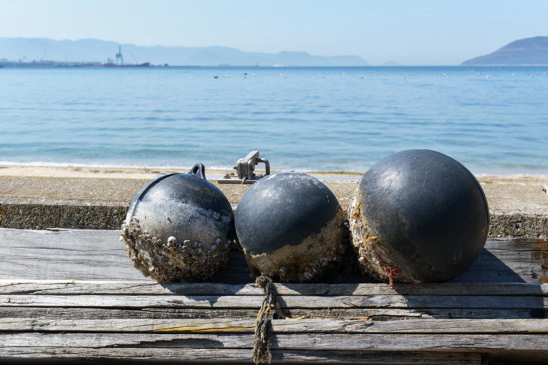 浦生海岸の浮き球_d0246136_18362093.jpg