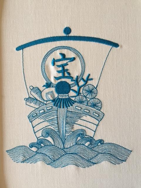 宝船の刺繍♪_c0316026_18375270.jpg