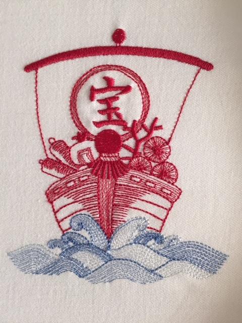 宝船の刺繍♪_c0316026_18395774.jpg