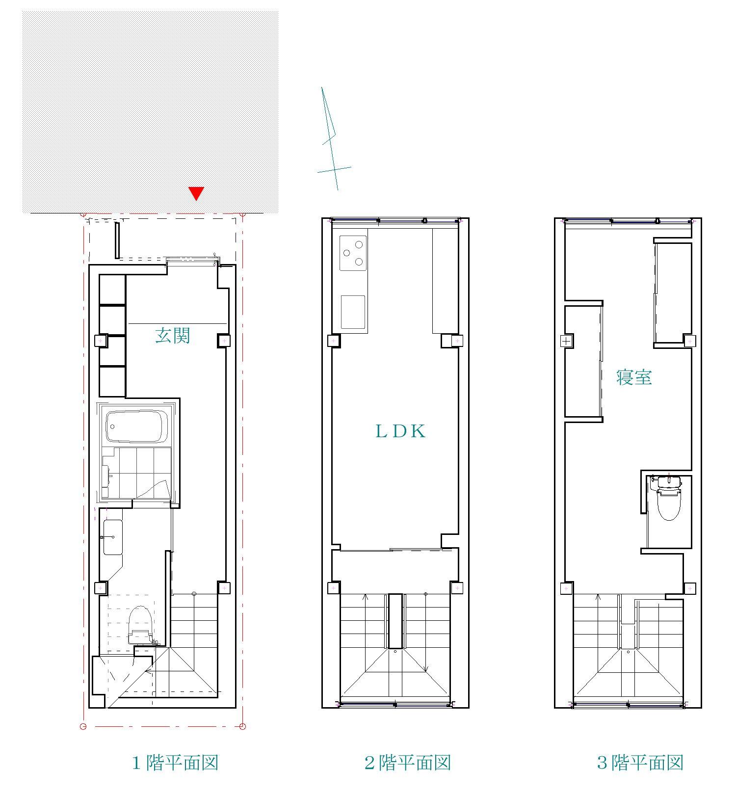台東区「小島の家」data & plan_f0230666_1529717.jpg