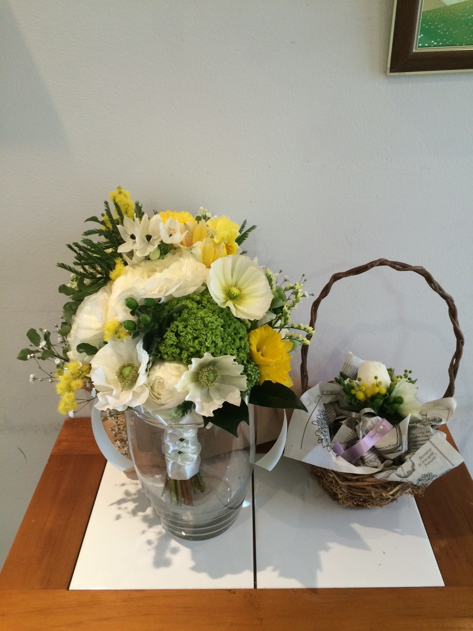 Happy Wedding!! K&M~手作りDIYと春の小花_e0120789_21565896.jpg