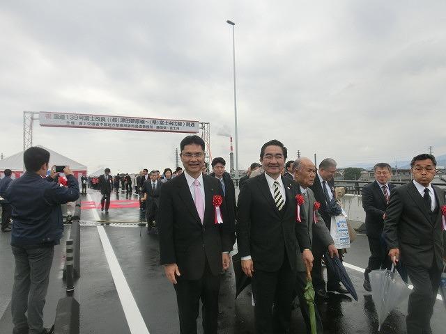 大月線(国道139号)から潤井川に架かる新しい橋 「富士山夢の大橋」が開通!_f0141310_7101953.jpg