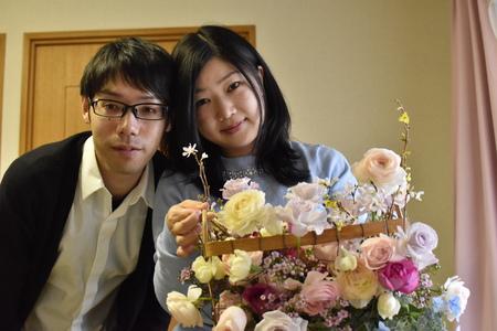 ご入籍記念日に 旦那様から奥様へ 山の上ホテルの花嫁様より_a0042928_16235043.jpg
