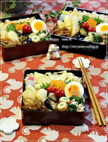 筍ご飯弁当と苺酵母♪_f0348032_18342524.jpg