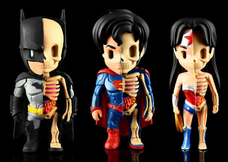 Set of 3 XXRAY DC Heroes by Jason Freeny_e0118156_1085033.jpg