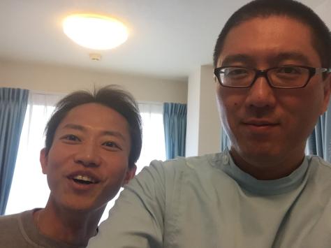 友人のドクター。沖田先生、ご来院。_a0112393_17374264.jpg
