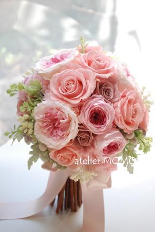 春色!ピンクのクラッチブーケ_a0136507_21510781.jpg