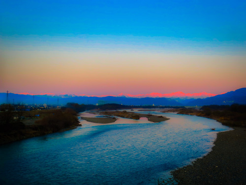 2016.3.22北アルプモルゲンロート(五輪大橋)_e0321032_8394894.jpg