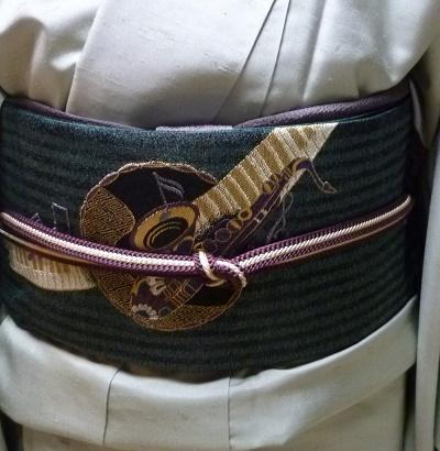 牛首紬に、西陣まいづる楽器の袋帯のお客様。_f0181251_18512238.jpg