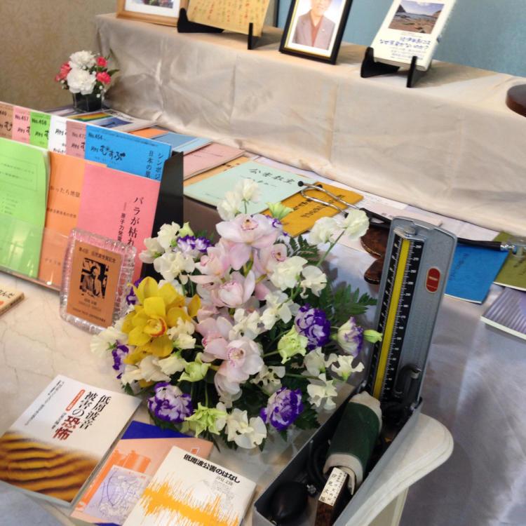 汐見先生の思い出の祭壇に・・・_c0185356_20544685.jpg
