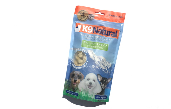 K9 Natural FREEZE DRIED LAMB GREEN TRIPE  フリーズドライ      グリーントライプ_d0217958_11205063.jpg