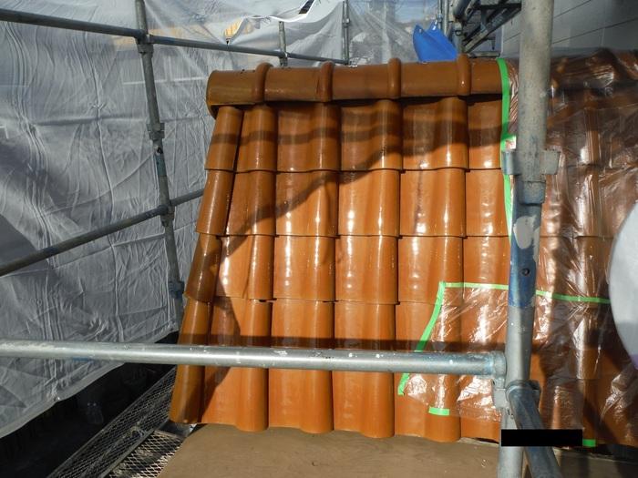 屋根葺き直し、雨樋取替、外壁塗替え ~ パラペット瓦。_d0165368_7115898.jpg