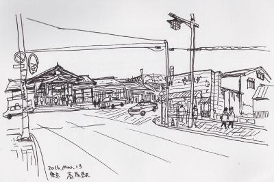 旅スケッチ (青春18きっぷ) 中央本線のまき1_f0072976_9302671.jpg
