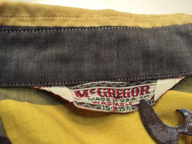 3月26日(土)入荷商品!50s マクレガー オープンカラーボックスシャツ!_c0144020_1665915.jpg