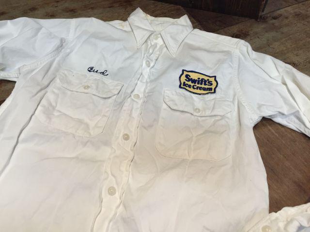 3月26日(土)入荷商品!  50s チェーンステッチ入り all cotton twill work shirts マチ付!!_c0144020_1681581.jpg