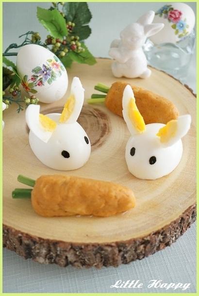 Easterに♪ウサギ型の卵とにんじん型のポテトサラダ(レシピ)_d0269651_13180849.jpg