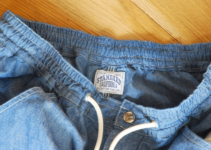 【DELIVERY】 STANDARD CALIFORNIA - Chambray Easy Pants!_a0076701_15484730.jpg