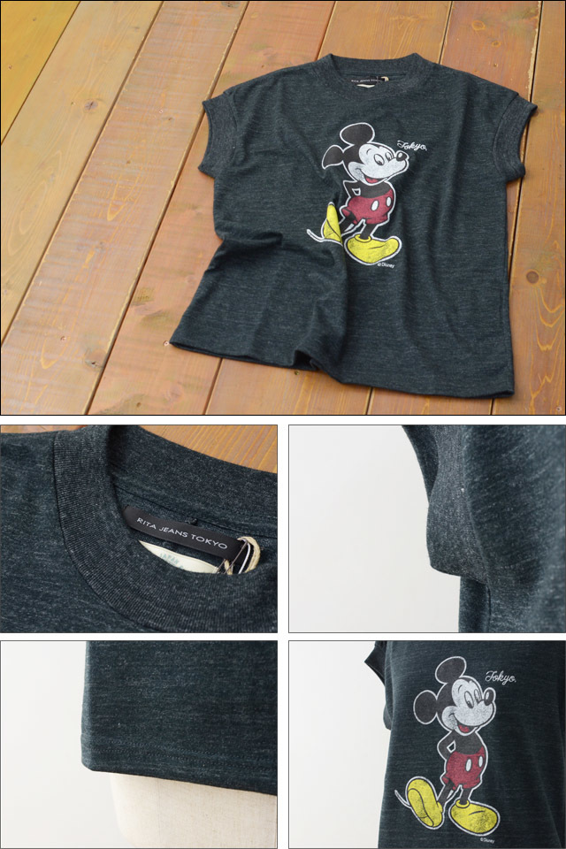 RITA JEANS TOKYO [リタ ジーンズ トーキョー] MICKEY MOUSE VITAGE T [RT.16SS DF-01 /FCT125R ] LADY\'S_f0051306_17571727.jpg