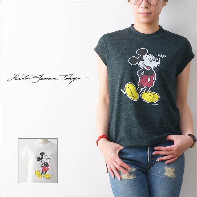 RITA JEANS TOKYO [リタ ジーンズ トーキョー] MICKEY MOUSE VITAGE T [RT.16SS DF-01 /FCT125R ] LADY\'S_f0051306_17571748.jpg