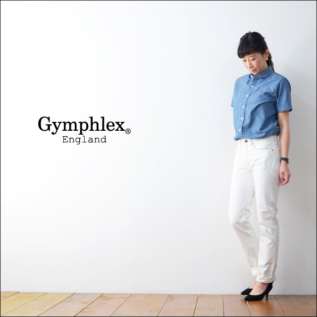 Gymphlex [ジムフレックス] CHAMBRAY SS SHIRTS [J-1220COD] LADY\'S_f0051306_18061026.jpg