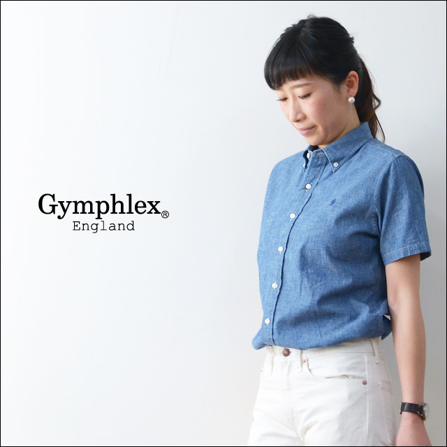 Gymphlex [ジムフレックス] CHAMBRAY SS SHIRTS [J-1220COD] LADY\'S_f0051306_18061098.jpg
