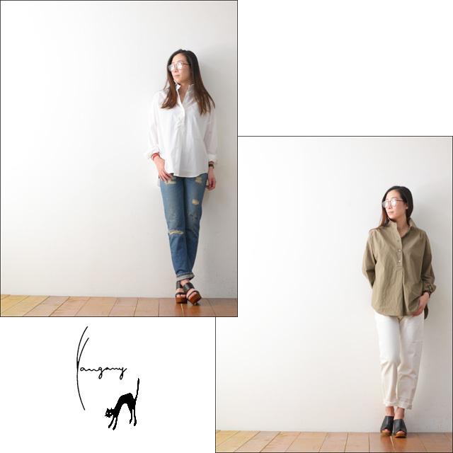 yangany [ヤンガニー] タイプライタービックシャツ [F-5900] LADY\'S_f0051306_18175422.jpg