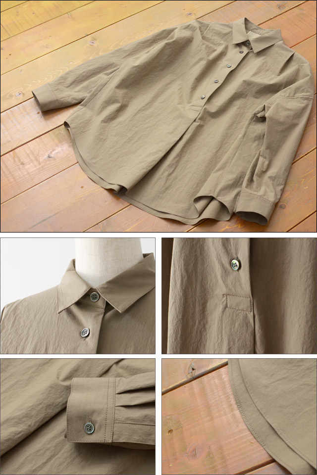 yangany [ヤンガニー] タイプライタービックシャツ [F-5900] LADY\'S_f0051306_18175456.jpg