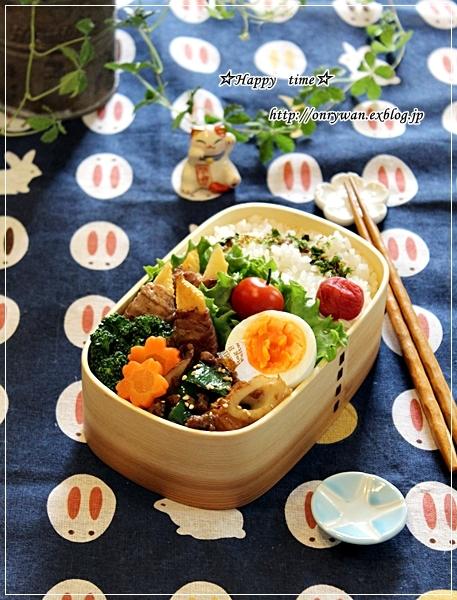 たけのこ肉巻き弁当と春パスタ♪_f0348032_18005529.jpg