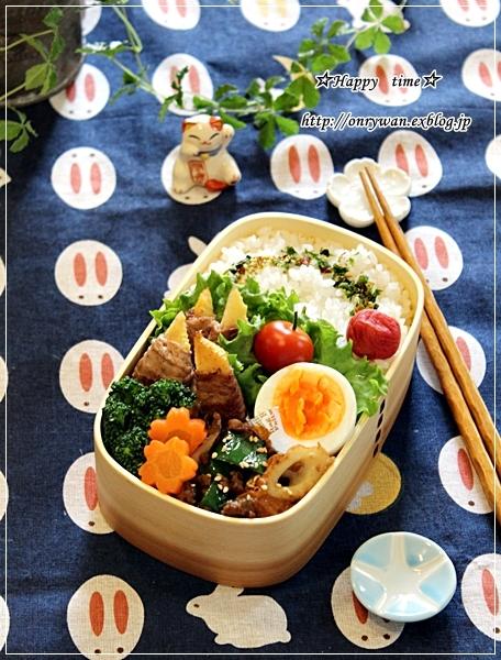 たけのこ肉巻き弁当と春パスタ♪_f0348032_18010599.jpg