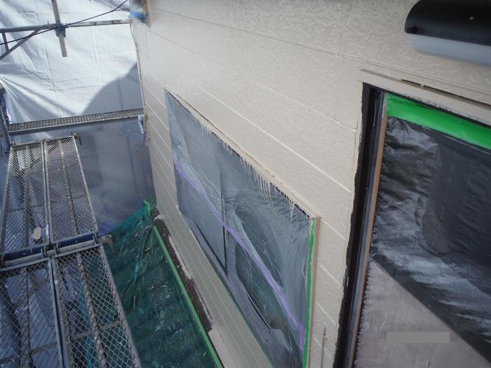 屋根葺き直し、雨樋取替、外壁塗替え ~上塗り 。_d0165368_912141.jpg