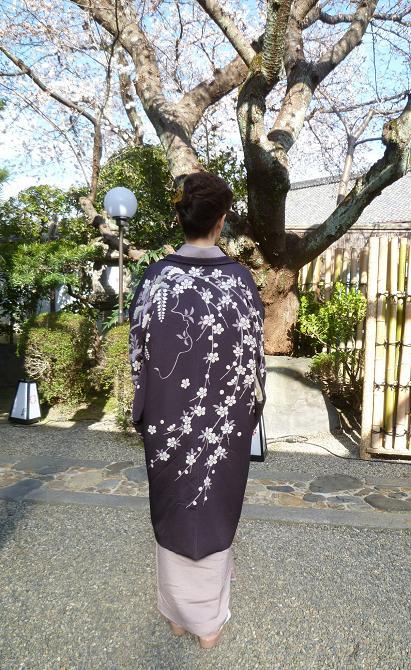 上七軒北野をどり・素敵な桜の帯のお客様。_f0181251_1749714.jpg