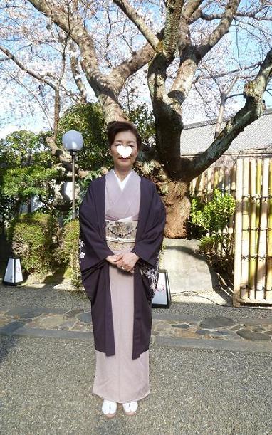 上七軒北野をどり・素敵な桜の帯のお客様。_f0181251_17501758.jpg