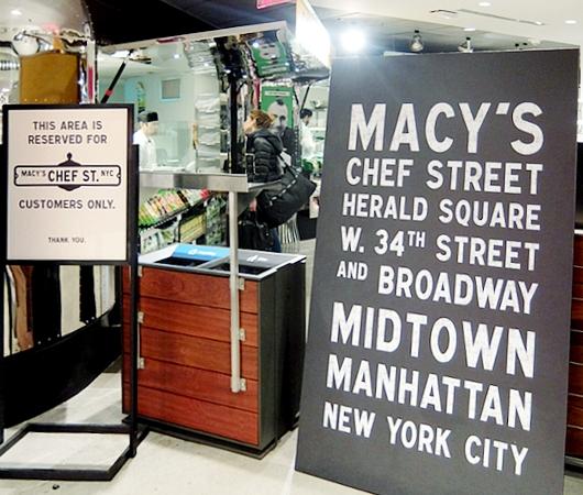 メイシーズNY本店地下に登場した新たなフードコート、「シェフ・ストリート」 Chef Street_b0007805_2311417.jpg