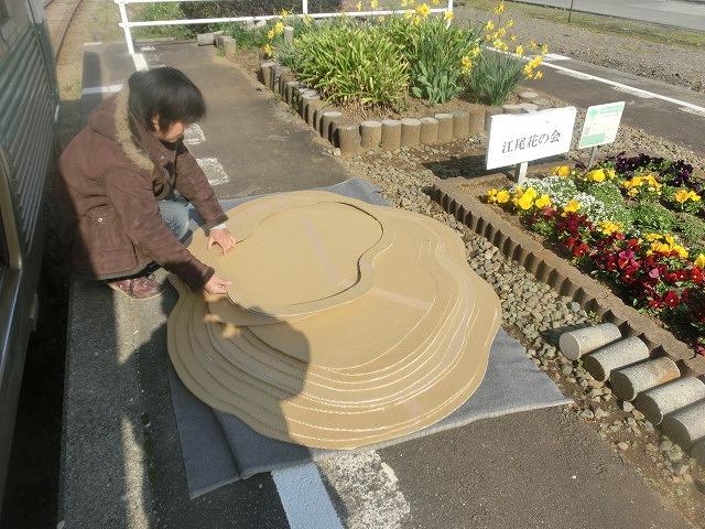 岳鉄に「夢をのせて」 アートステーション・イン・岳電_f0141310_7504789.jpg
