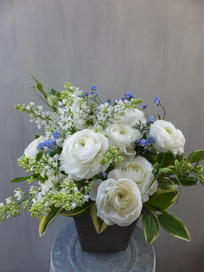 オークリーフ(お悔やみ花 white&green)_f0049672_13512480.jpg