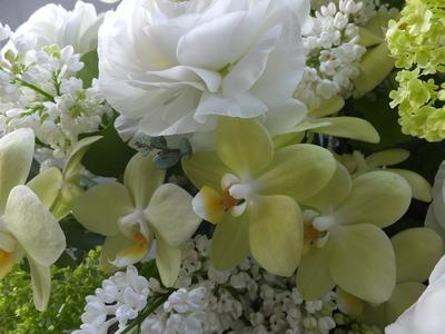 オークリーフ(お悔やみ花 white&green)_f0049672_1352196.jpg