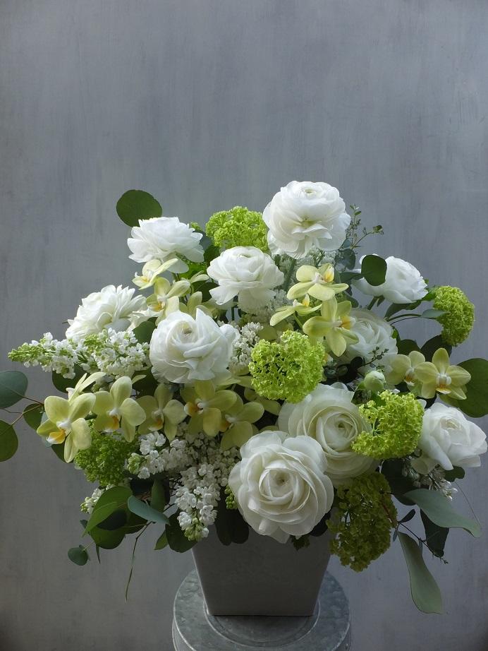 オークリーフ(お悔やみ花 white&green)_f0049672_13522987.jpg