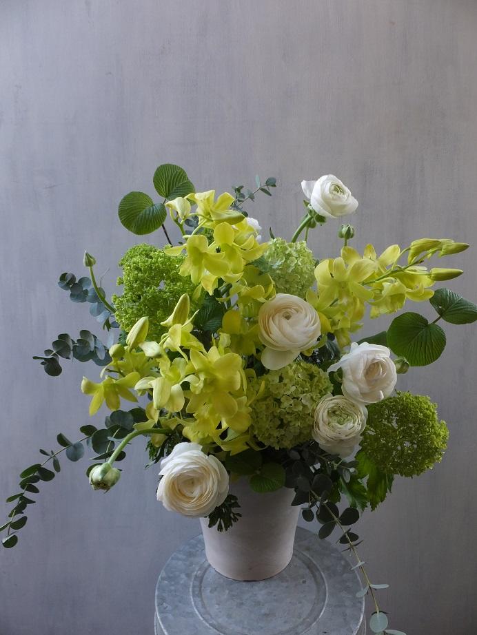 オークリーフ(お悔やみ花 white&green)_f0049672_13531767.jpg