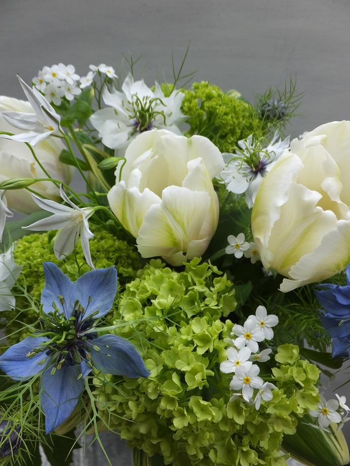 オークリーフ(お悔やみ花 white&green)_f0049672_13532819.jpg