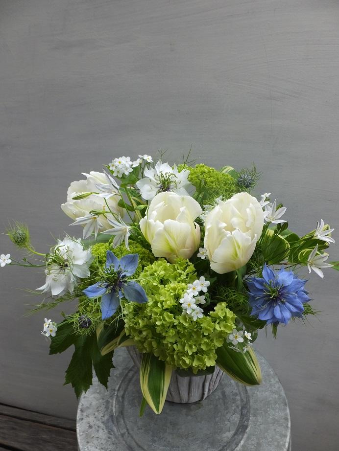 オークリーフ(お悔やみ花 white&green)_f0049672_1353361.jpg