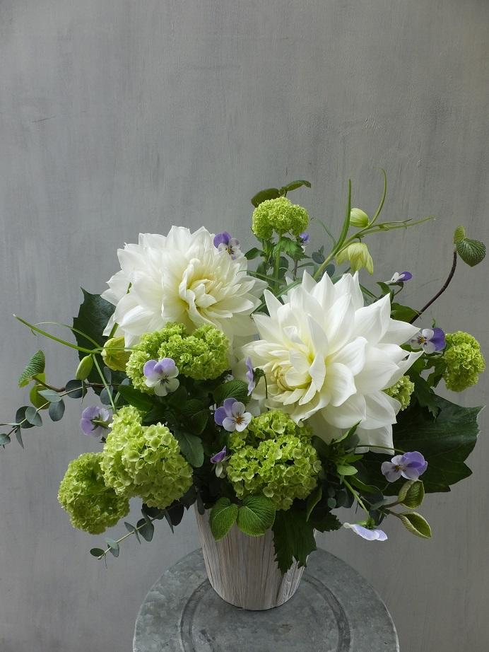 オークリーフ(お悔やみ花 white&green)_f0049672_13534796.jpg
