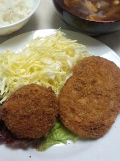 下高井戸 肉と惣菜の堀田の揚シューマイとカボチャコロッケ_f0112873_13134561.jpg