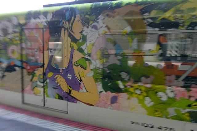 藤田八束の鉄道写真集@大阪環状線の春、桜の花が咲き観光客で大賑わい_d0181492_21501825.jpg