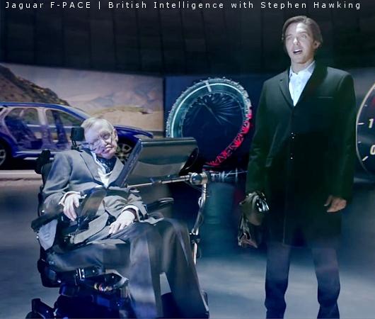 スティーヴン・ホーキング博士、なんと74歳で夢を叶えて高級車ジャガーのテレビCMにご出演!?_b0007805_1912916.jpg