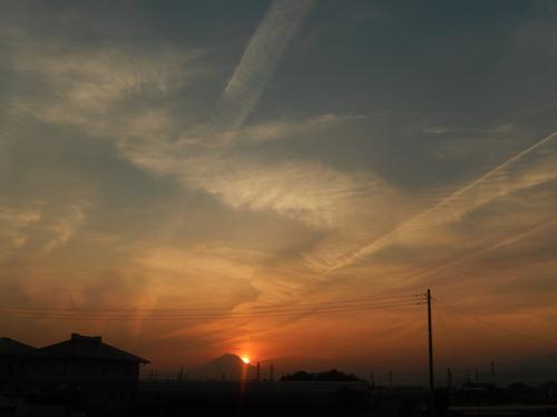 朝の富士...夕暮れのダイヤモンド富士_b0137932_19213846.jpg