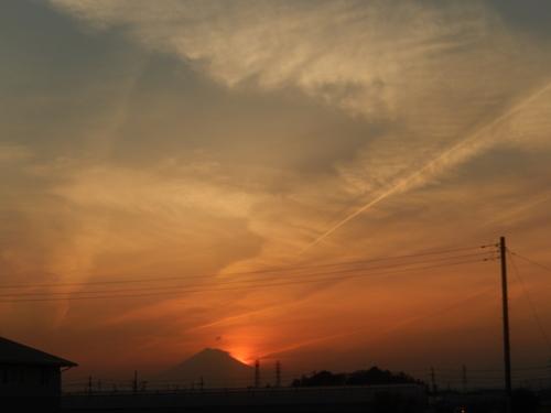 朝の富士...夕暮れのダイヤモンド富士_b0137932_1922132.jpg