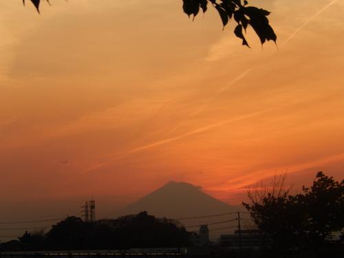 朝の富士...夕暮れのダイヤモンド富士_b0137932_19224783.jpg