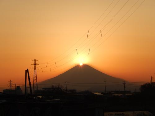 朝の富士...夕暮れのダイヤモンド富士_b0137932_19282731.jpg